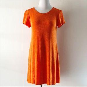 Jessica Howard 90s Vintage Orange Sparkly Dress